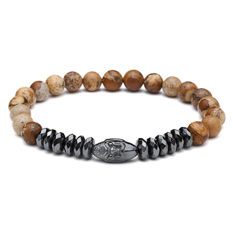 Stylish men's bracelets made of natural stone