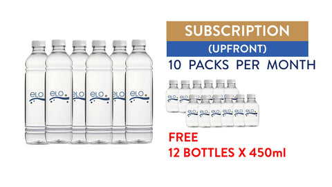Subscription (Upfront) - ELO Drinking Water 1.5L (10 Packs)