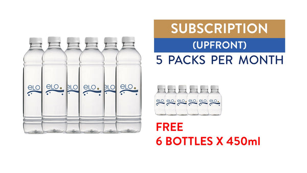 Subscription (Upfront) - ELO Drinking Water 1.5L (5 Packs)