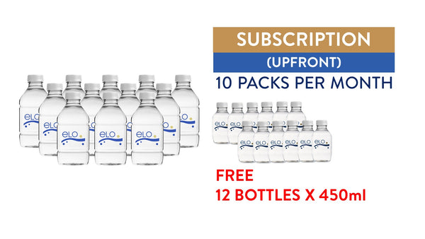 Subscription (Upfront) - ELO Drinking Water 750ml (10 Packs)