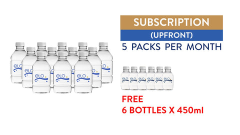 Subscription (Upfront) - ELO Drinking Water 750ml (5 Packs)