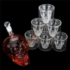 Skull - Whiskey Glasses + Decanter Set
