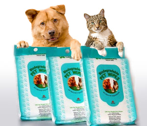 Bio-Degradable Pet Wipes - 80 CT