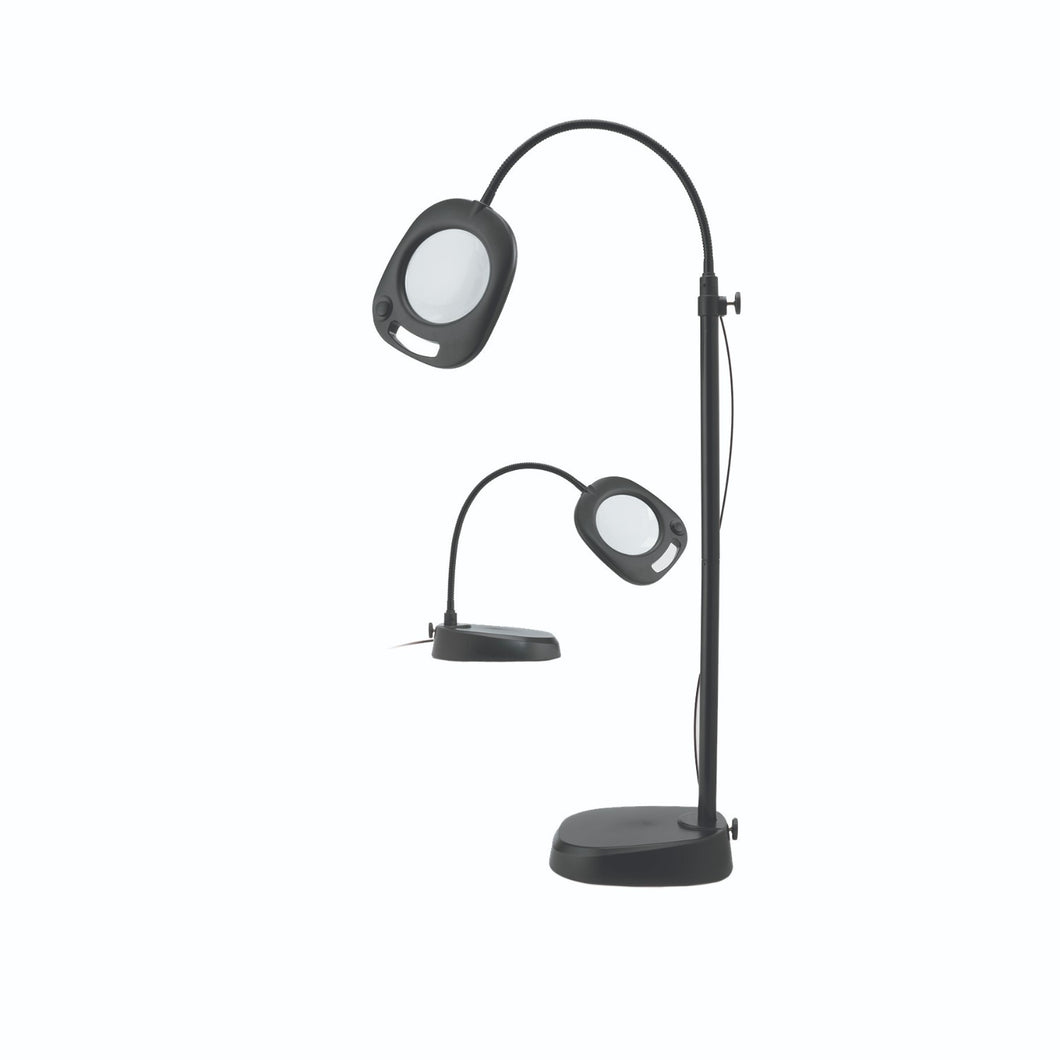 magnifying convertible table and floor lamp