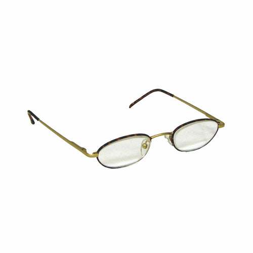 powerspecs thin prismatic half eye metal tortoise spectacles