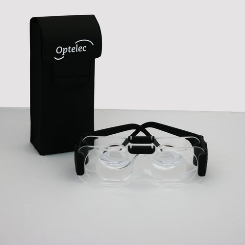 power tv binocular glasses and case