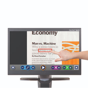 "ClearView+ 24"" HD Video Magnifier with Speech"