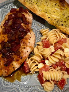 TUSCAN CHICKEN WITH BALSAMIC REDUCTION