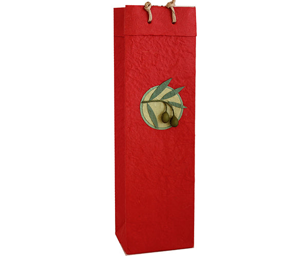 Gift Bag - Paper Red Large 1 Bottle