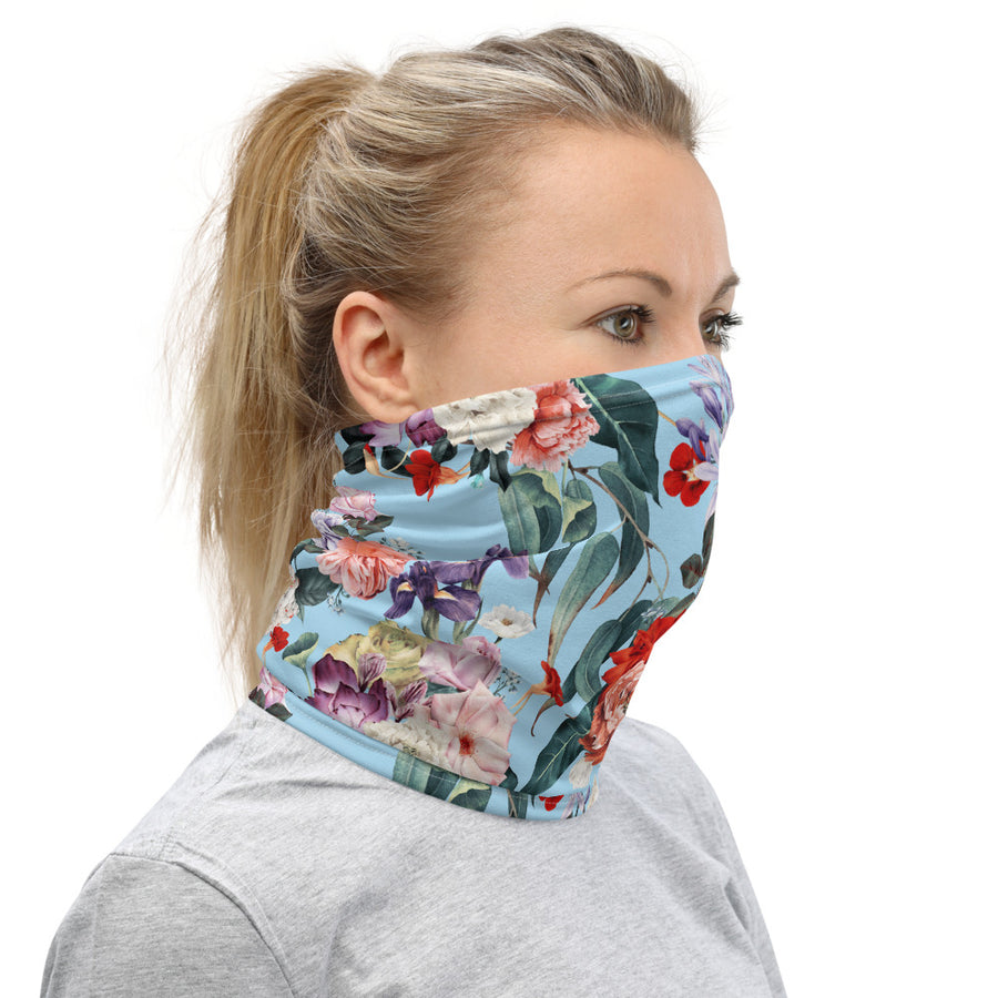 Blue Floral Face Mask - Fortune Favors The Bold Co