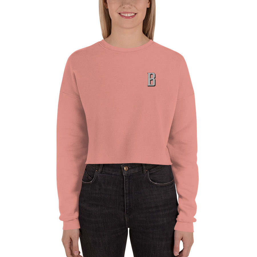 B Bold Crop Sweatshirt - Fortune Favors The Bold Co