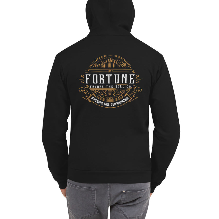 Retro  Zip Hoodie - Fortune Favors The Bold Co