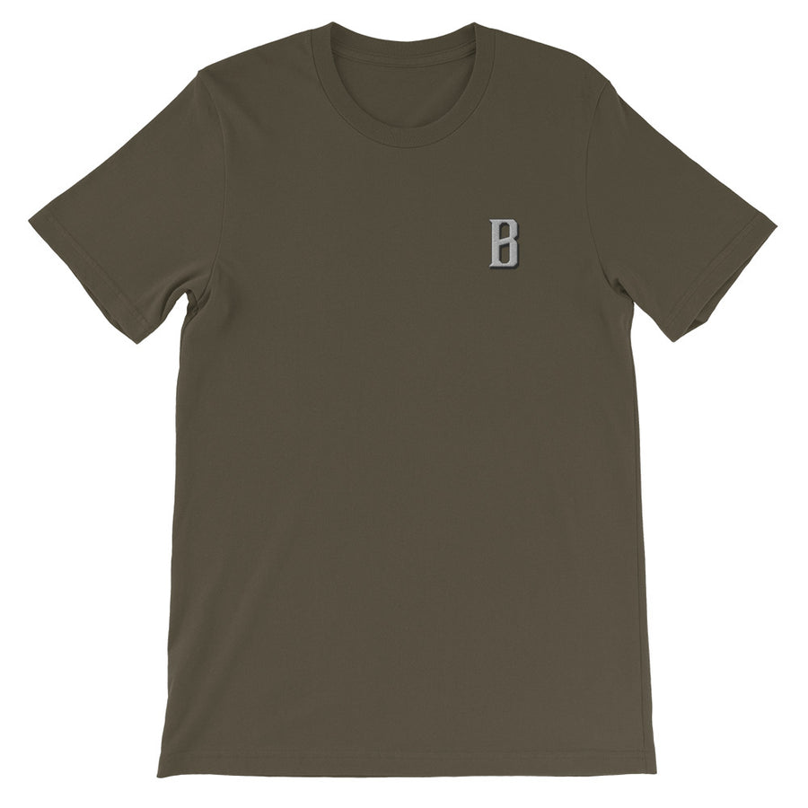 B Bold Embroidered Unisex Tee - Fortune Favors The Bold Co