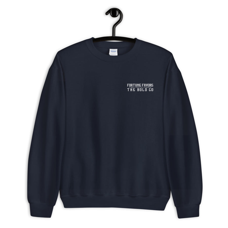 Retro Crew Sweatshirt - Fortune Favors The Bold Co