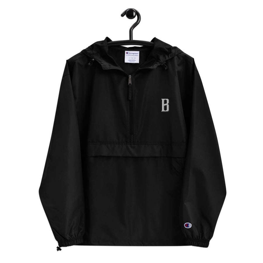 Embroidered Champion Windbreaker Jacket - Fortune Favors The Bold Co