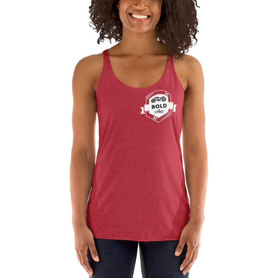 Motor Vibes Women's Racerback Tank - Fortune Favors The Bold Co