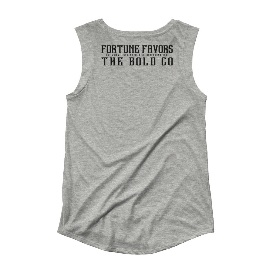 Ladies' Cap Sleeve T-Shirt - Fortune Favors The Bold Co