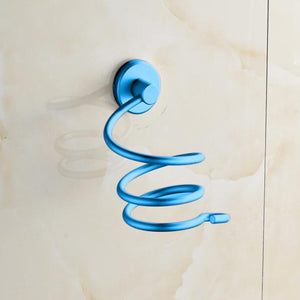 Wall Hair Dryer Rack Space Aluminum Bathroom Wall Holder Shelf Storage