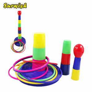 Surwish Children Toy Throw Lawn Toss Quoits Play Garden Funny Family Outdoor Game Ring