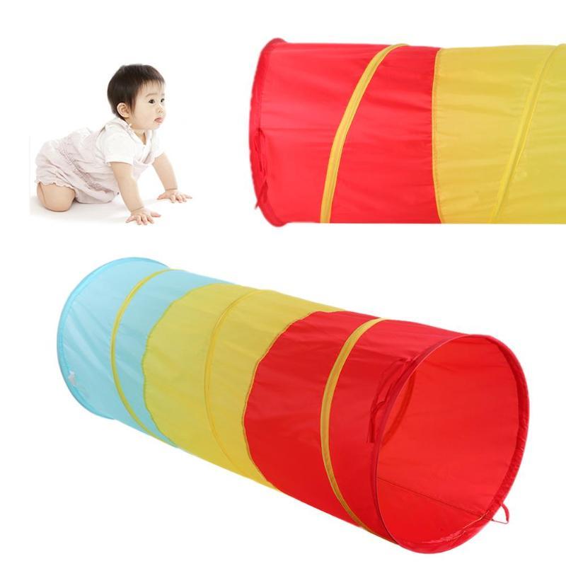 Portable Three Colors Tunnel Toy Tent Children Kids Outdoor Indoor Play Tent Baby Crawling Tube Playhouse Games