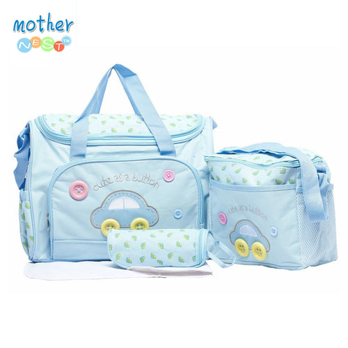 4 Piece Shoulder Diaper Bag