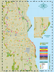 Milwaukee County Parks & Trails Map (Pay What You Want)