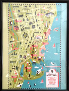 Milwaukee Lakefront Map Poster