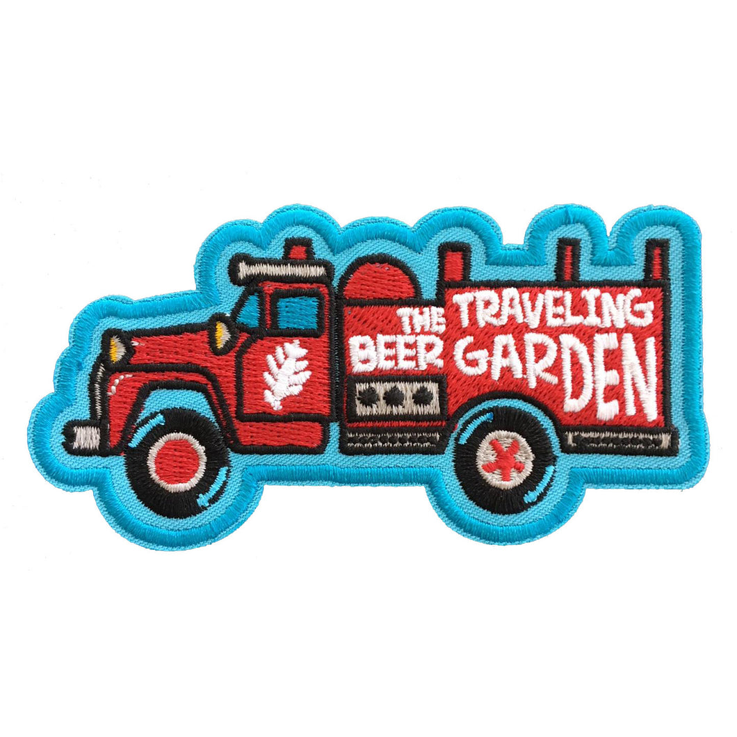 Traveling Beer garden Iron On Patch