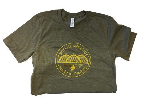 Mitchell Park Domes Heather Olive tshirt