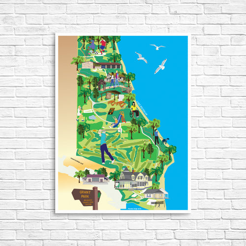 Grant Park Map Poster