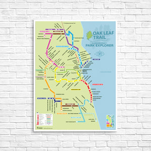 Oak Leaf Trail 'Park Explorer' Poster