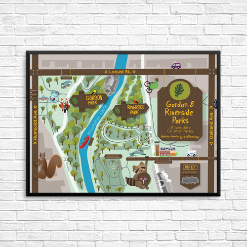 Riverside & Gordon Park Map Poster