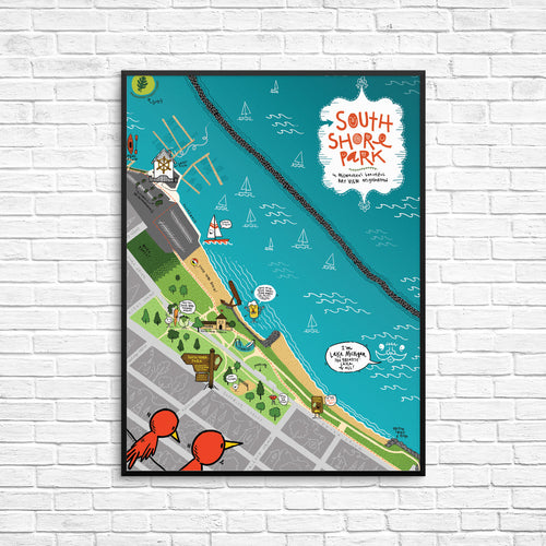 South Shore Park Map Poster