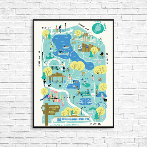 Washington Park Map Poster