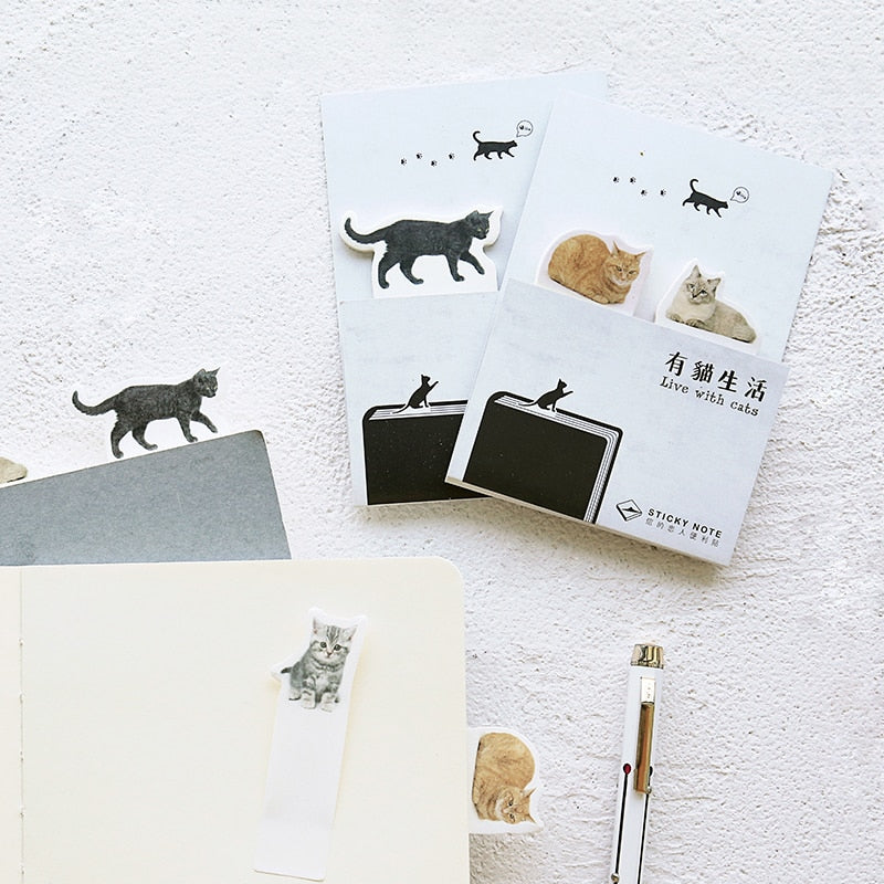 Cats sticky notes (4 sets)
