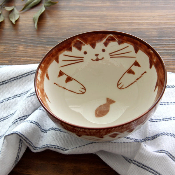 Ceramic Cat Bowls for Humans (Set of 4pcs)