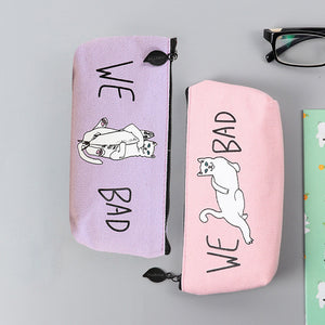 Bad Cats Pencil Pen Case/Makeup Bag