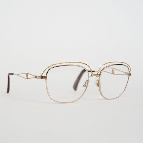 Vintage Dior Metal Rim Glasses
