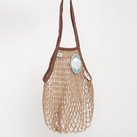 Filt Net Bags in Brown Two Tone