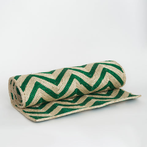 Maison Bengal Woven Chevron Matt in Green
