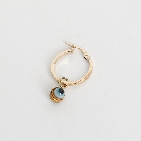 Tara Turner Evil Eye Medium Hoop Earring