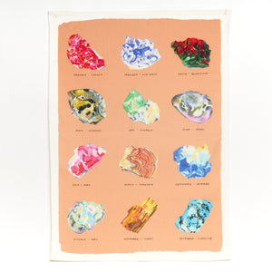 Kavel Rafferty Crystal Illustrated Tea Towel in peach