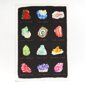 Kavel Rafferty Crystal Illustrated Tea Towel in black