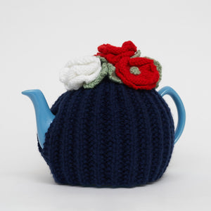 Eileen's Knitted Large Tea Cosy in Dark Blue