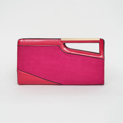 Remind me of the 80s Clutch Bag in Hot Pink