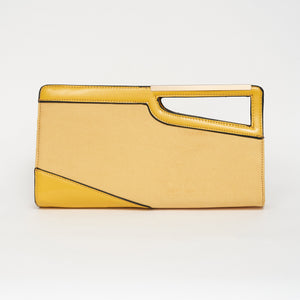 Remind me of the 80s Clutch Bag in Yellow