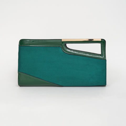 Remind me of the 80s Clutch Bag in Emerald Green