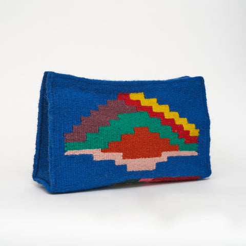 Wool Fabrique Large Clutch Bag in Blue