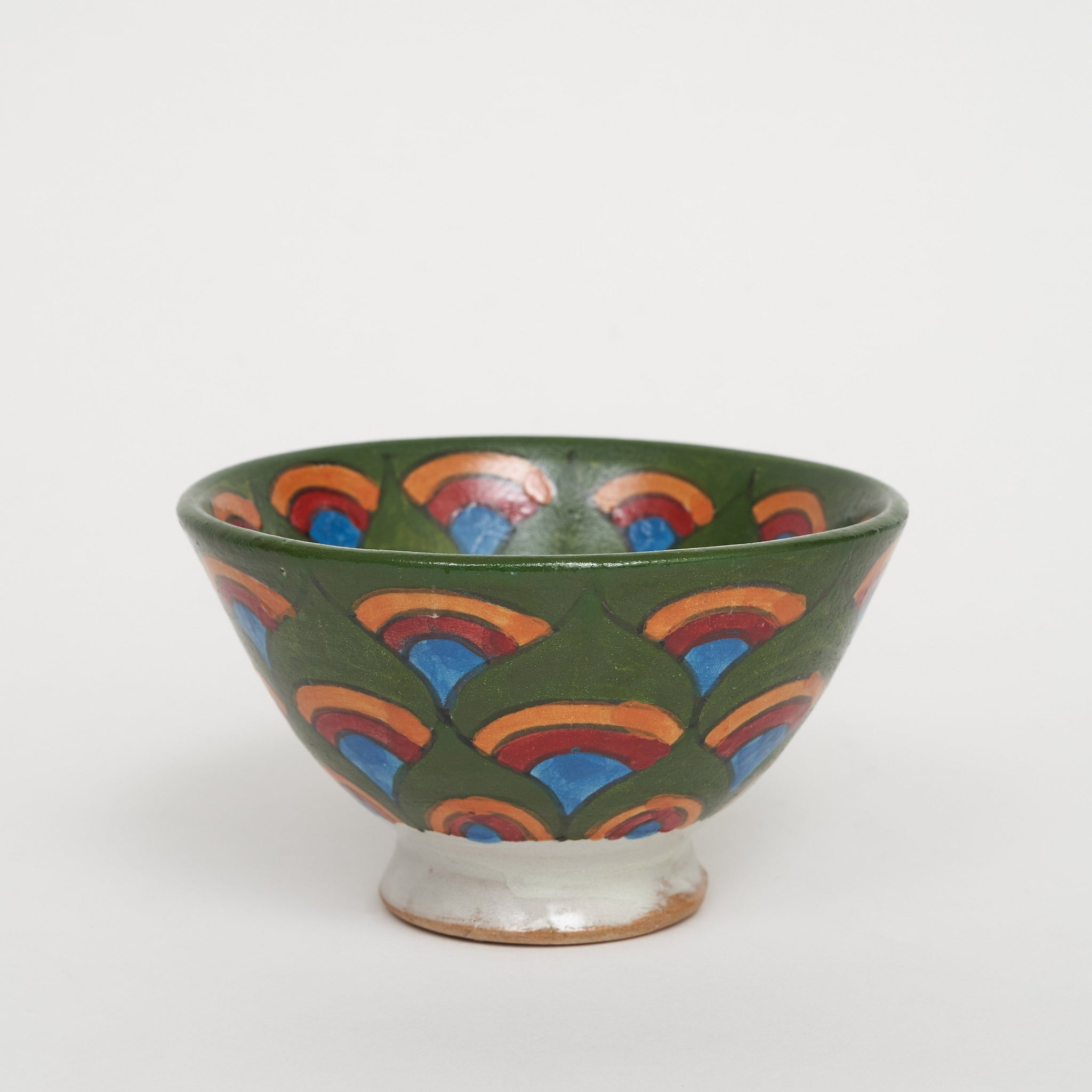 Painted Bowl in Green