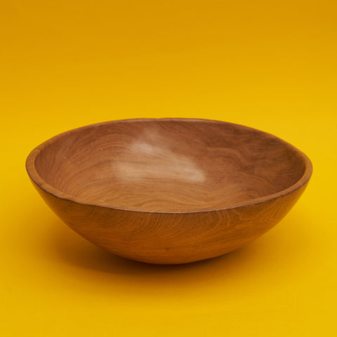 Large Hand Carved Wooden Bowl - A BAG FULL OF KIM - Kim Sion